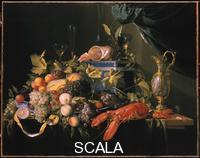 Heem, Jan Davidsz de (1606-1684) Still life with fruit and lobster.