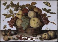 Ast, Balthasar van der (1590-1656) Still Life with Basket of Fruit. Undated.