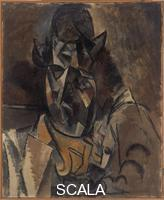 Picasso, Pablo (1881-1973) Portrait of the Painter Georges Braque, 1909-1910