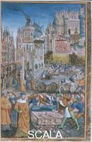 Colombe, Jean (fl.1467-1529) Rebuilding of Troy by Priam. After 1490.
