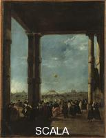 Guardi, Francesco (1712-1793) The Ascent of the Balloon. 1784.