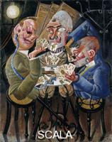 Dix, Otto (1891-1969) The Skat Players - Card Playing War Invalids. 1920.
