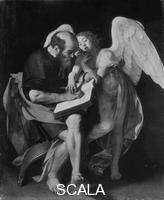 Caravaggio (Merisi, Michelangelo da 1571-1610) Saint Matthew with the Angel (destroyed in World War II)