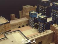******** Model of the Procession Road and the Ishtar Gate in Babylon, after the state of the 6th BCE.