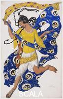 Bakst, Leon (1866-1924) The Butterfly (Costume Design for Anna Pavlova)