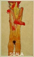 Schiele, Egon (1890-1918) Naked Girl With Folded Arms, 1910