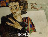 Schiele, Egon (1890-1918) Self-Portrait With Spread Fingers, 1911