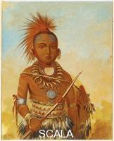 Catlin, George (1796-1872) Portrait de chef indien 'wa-ta-we-buck-a-nak' (General Commandant), 1845-46.