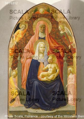 Masaccio (1401-1428) and Masolino (1383-1440) Saint Anne, the Madonna and Child and Five Angels (after restoration)
