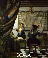 Vermeer, Jan (1632-1675) The painter (Vermeer's self-portrait) and his model as Klio, 1665-1666