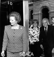 ******** Yitzhak Shamir and his wife with Margaret Thatcher at No 10 Downing Street, May 1989.