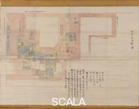 Japanese art The map of the Tanakas old mansion