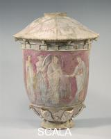 ******** Terracotta vase, wedding scene, 3rd-2nd century b.C.