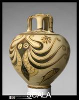 ******** Terracotta stirrup jar with octopus, c. 1200-1100 B.C.