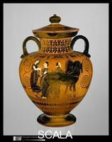 Exekias (6th cent. B.C.) Terracotta neck-amphora (jar), c. 540 b.C.