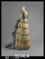 Worth, Charles Frederick (1826-1895) Dress (Ball Gown), c. 1872. (Manufacturer: House of Worth, 1858-1956)