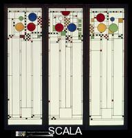 Wright, Frank Lloyd (1867-1959) Stained Glass Windows, 1912