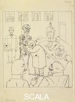 Grosz, George (1893-1959) Fit for Active Service,. 1916-17
