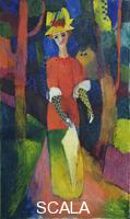 Macke, August (1887-1914) Lady in a Park, 1914
