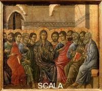 Duccio di Buoninsegna (c. 1260-1318) Maesta, upper section: Pentecost