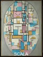 Mondrian, Piet (1872-1944) Composition in Oval with Color Planes I, 1914