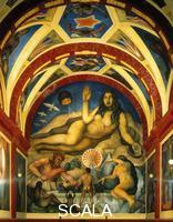 Rivera, Diego (1886-1957) The Liberated Earth with Natural Forces Controlled by Man (La tierra fecunda), 1926-27. Mural, 6.92 x 5.98 m. Chapel.