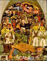 Rivera, Diego (1886-1957) Legacy of Independence. Detail of central section of 'From the Conquest to 1930', 1929-1930. Mural, West wall,