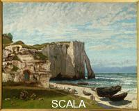 Courbet, Gustave (1819-1877) Coast at Etretat after the Storm