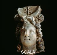 ******** Portrait head of Alexander the Great depicted as the sun god (Helios Kosmokrator). Alexander was recognized by the oracle of the god Amun-Ra in the Siwa Oasis as the god's son.