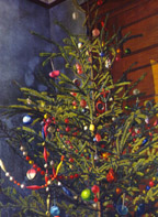 "Code: S106875 - Artist: Weingaertner, Hans (1896-1970) - Title: Christmas Tree, 1941. Oil on canvas, 52 1/2"" x 40 1/2"". Collection of The Newark Museum, 41.819."