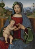 Code: A327246 - Artist: Francia, Francesco (c. 1450-1517) - Title: Virgin and Child, known as the Gambaro